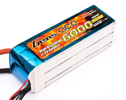 Gens ace 6000mAh 18 5V 35C 5S1P RC Lipo Battery