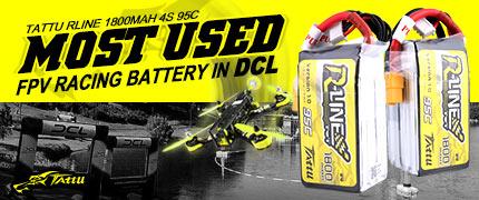 tattu-rline 1800mah 14.8v 95c 4s1p lipo battery pack