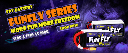 Tattu Funfly 1300 &1550 4S 100C FPV batteries