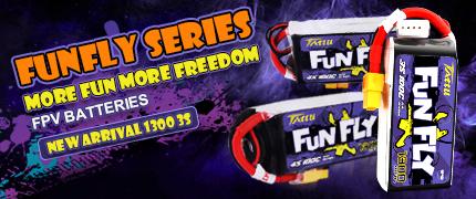Tattu Funfly 1300 &1550 4S 100C & 1300 3S FPV batteries