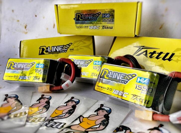 Tattu R-line 1550mAh 15.2V 100C Lipo battey pack with XT60